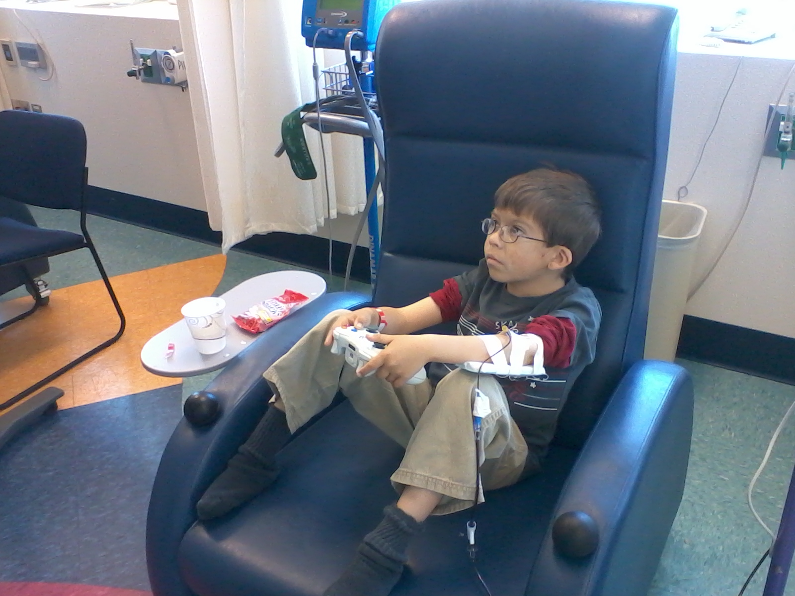 Child Playing Charity Gaming Cart